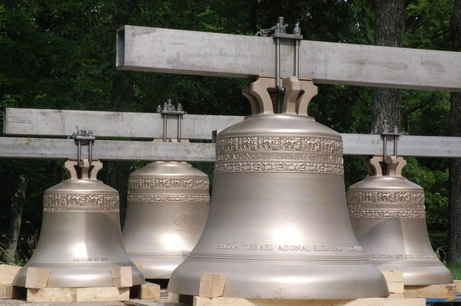 New Bronze Bells at The Chapel of the Holy Trinity - Sacred Heart University, Fairfield, Connecticut