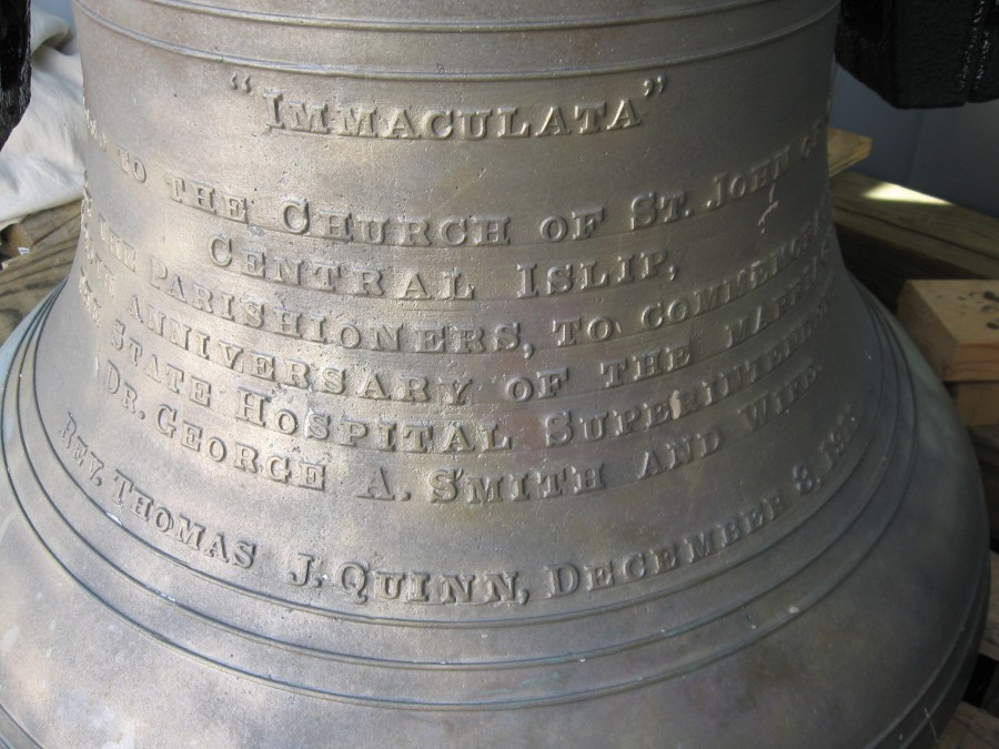 Church bells have a history as seen here and are a valuable asset to the church and communiity