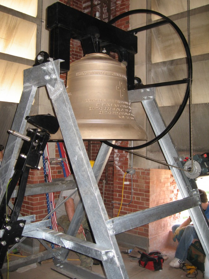 New Bronze Church Bell at St. Stanislaus Church - Bristol, Connecticut