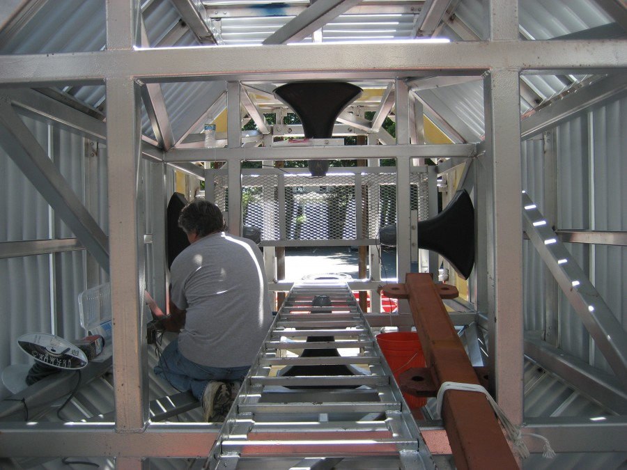 Carillon speakers are installed in the factory and wired prior to installation for easy connection