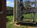 Louvers on Church Steeple