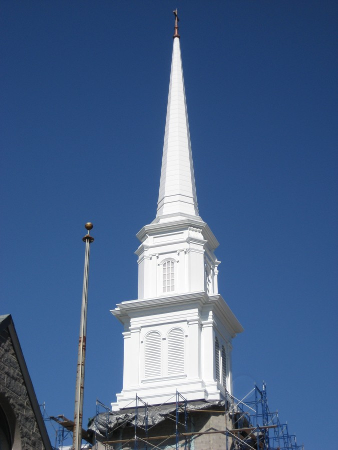 Custom built traditonal steeple 101' tall. Architecturally correct and Maintenace free