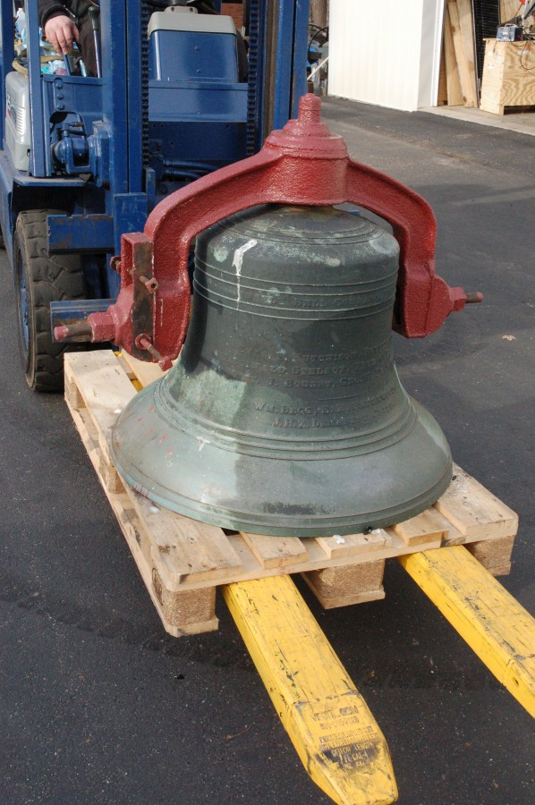 1896 Meneely Bell as it arrived at our facility in its original condition