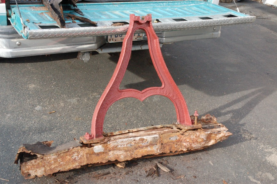 "Original Menelley Bell Base Frame and ""A"" stand"