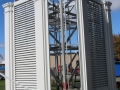 Maintenance Free Aluminum Louvers on Steeple