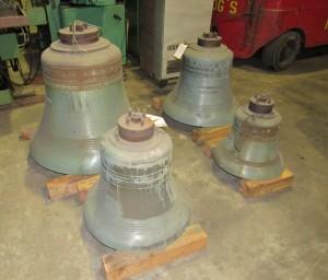 Petit & Fritsen four bell peal, Bronze Bells,bronze four bell peal