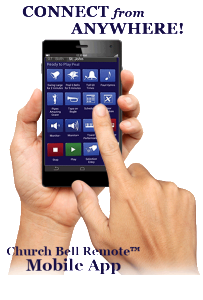 Chimemaster Systems Church Bell Remote (TM) Mobile App, carillons
