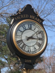 Two Face Post Clock Sacred Heart University Fairfield CT
