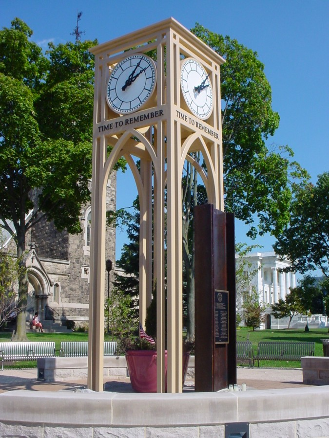 "9-11 Memorial Clock tower ""Time to Remember"""
