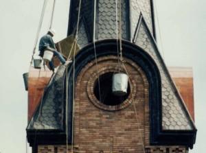 Steeplejack performing repairs