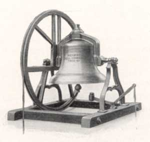 Engraving of a classic Meneely Bell as found in thousands of belfies worldwide