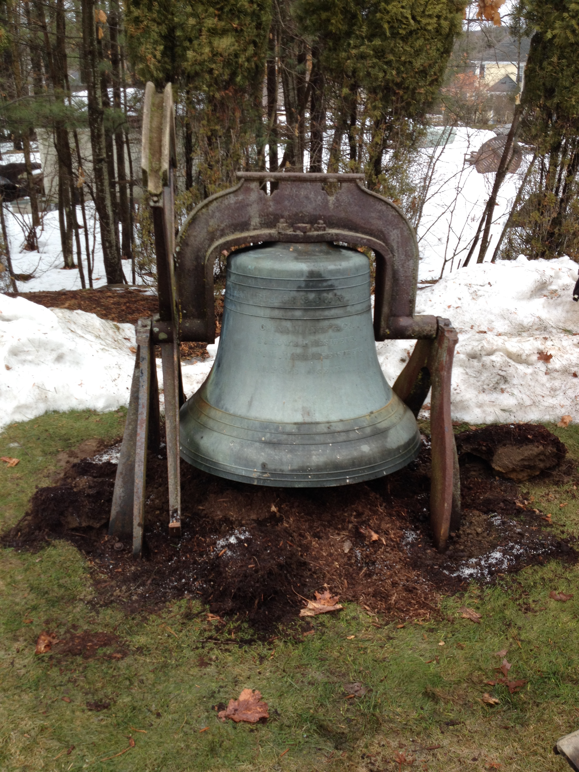 William Blake & Co, bronze church bell, 1869