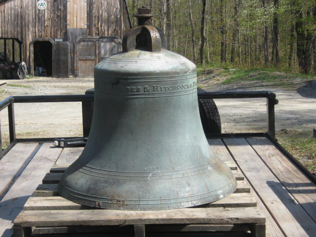 pre-owned church bell, Jones & Hitchcock Bronze Bell, 1853 Church Bell, 36 inch bronze bell