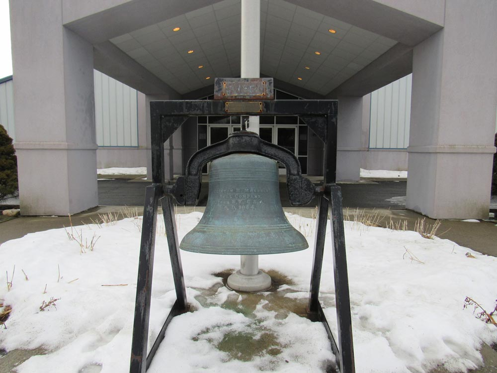 "27"" diameter 400 pound bell Clinton H Meneely Troy NY dated 1884"